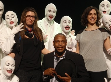 Producers Leeorna Solomons (right), Eva Price (left), Michael Winslow and VOCA PEOPLE