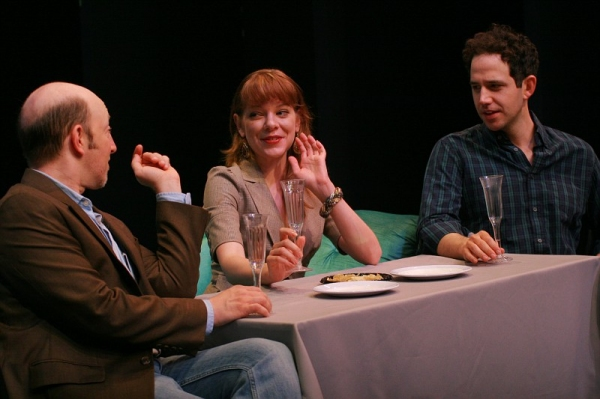 Steve Routman, Jillian Louis and Santino Fontana