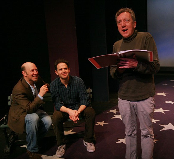 Steve Routman, Santino Fontana and Tom Aulino