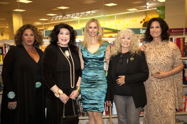Lainie Kazan, Barbara Van Orden, Patty Farmer, Connie Stevens, Michele lee at Lainie Kazan, Michele Lee et al. at THE PERSIAN ROOM PRESENTS Book Signing
