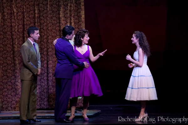 Jay Garcia, German Santiago, Michelle Aravena and Evy Ortiz at WEST SIDE STORY Sizzles in Toronto