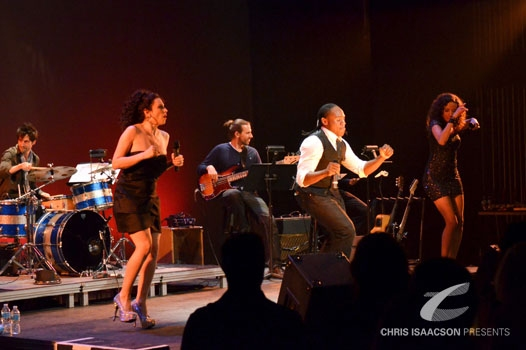 Matt Lucich (Drummer), Lesli Margherita, Carter Wallace, Rogelio Douglas Jr., and Lexi Lawson at Upright Cabaret's 'RHYTHM OF THE NIGHT' shines with Margherita, Hernandez, et al.