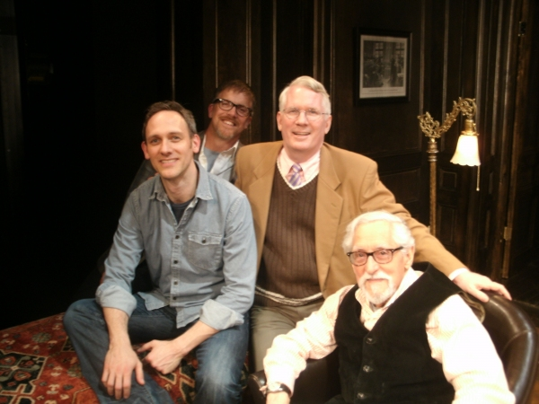 Goby Goss, Robert Stillman, Jack Thomas and Mike Nussbaum at FREUD'S LAST SESSION Welcomes New Chicago Cast