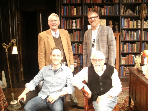 Jack Thomas, Coburn Goss, Robert Stillman and Mike Nussbaum at FREUD'S LAST SESSION Welcomes New Chicago Cast