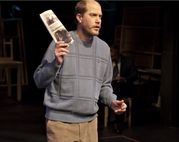Lane Richins in Too Much Memory with Salt Lake Acting Company