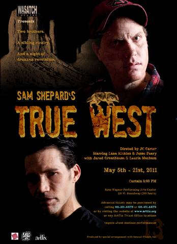 Lane Richins in True West with Wasatch Theatre Company