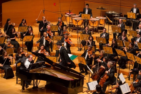 Pianist Yefim Bronfman, Alan Gilbert and the NY Philharmonic at Alan Gilbert Conducts NY Phil in Walt Disney Concert Hall Debut