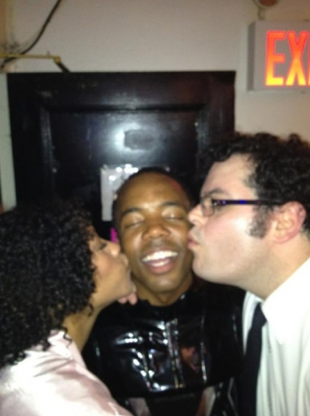Nikki M. James, Tommar Wilson and Josh Gad at Stars of NEWSIES, ONCE, GODSPELL and More Tweet Saturday Intermission Pics - Updated!