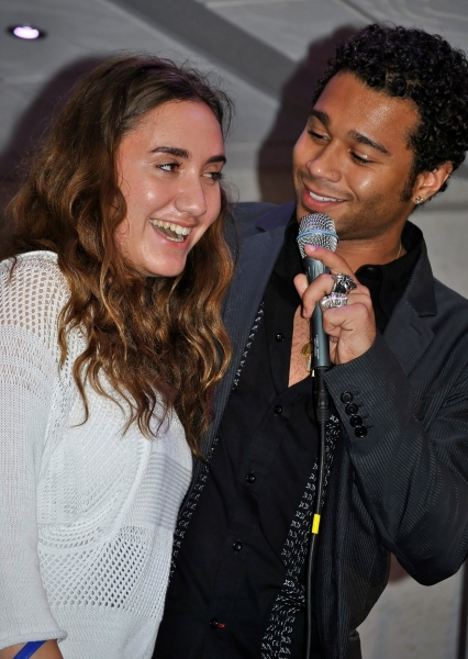 Corbin Blue picks a girl from the audience