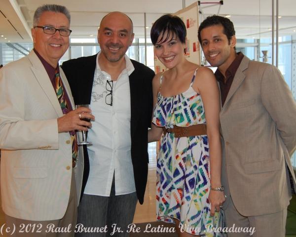 Dan Guerrero, Raul Espinoza, Denisse Ambert and Luis Salgado  at The Broadway League launches VIVA BROADWAY!