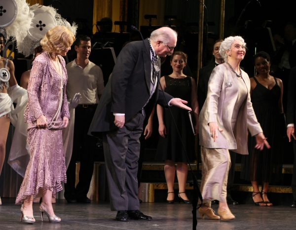 Deborah Rush, Simon Jones & Sandra Shipley  at Megan Hilty & Rachel York in The GENTLEMEN PREFER BLONDES Curtain Call