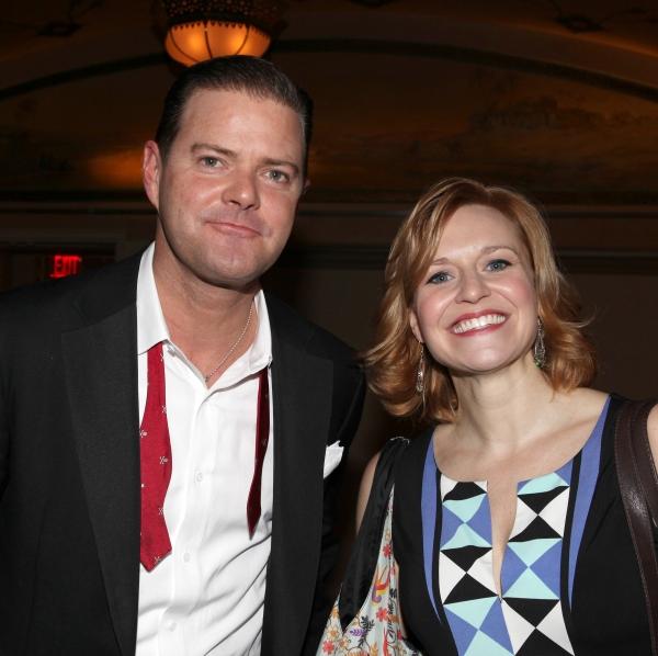 Clarke Thorell & Megan Sikora at GENTLEMEN PREFER BLONDES Closing Reception!