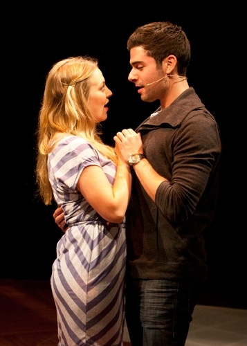 Jenni Barber as Jenny and Adam Kantor as Jeff at First Look at The Old Globe's NOBODY LOVES YOU World Premiere!
