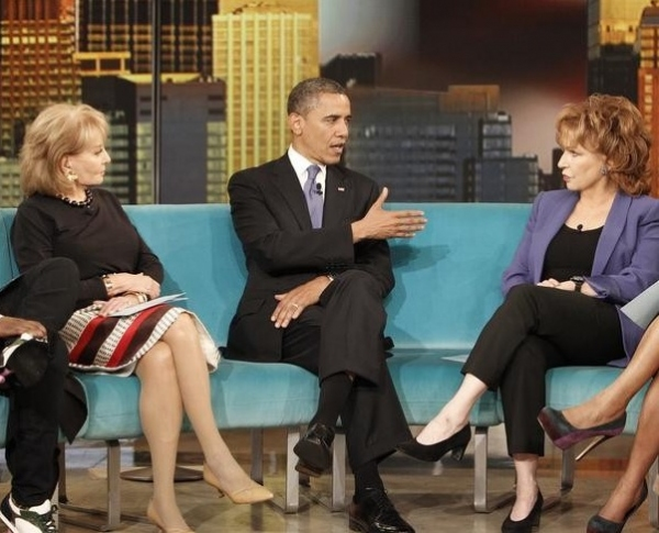 Barbara Walters, President Obama & Joy Behar