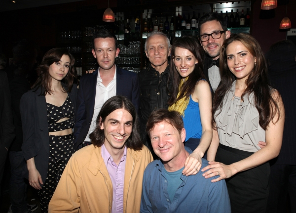 Enda Walsh with The Cast of 'ONCE' : Cristin Milioti, Lucas Papaelias, David Patrick Kelly, Elizabeth A. Davis, Andy Taylor, Steve Kazee & Erika Walsh  at Inside the 2012 Drama Critics Circle Awards Ceremony!