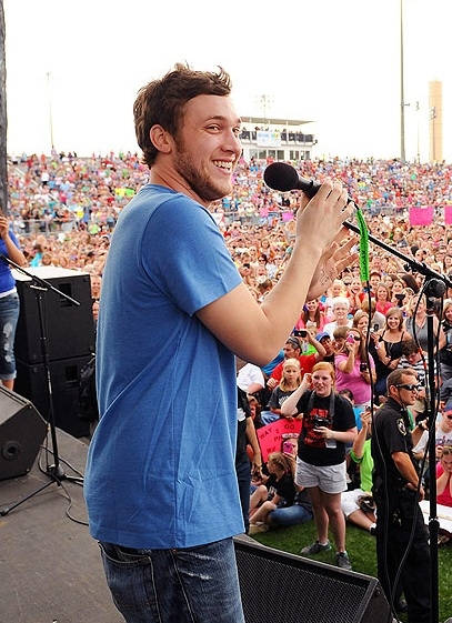 Phillip Phillips at First Look - Hometown Visits for AMERICAN IDOL Finalists