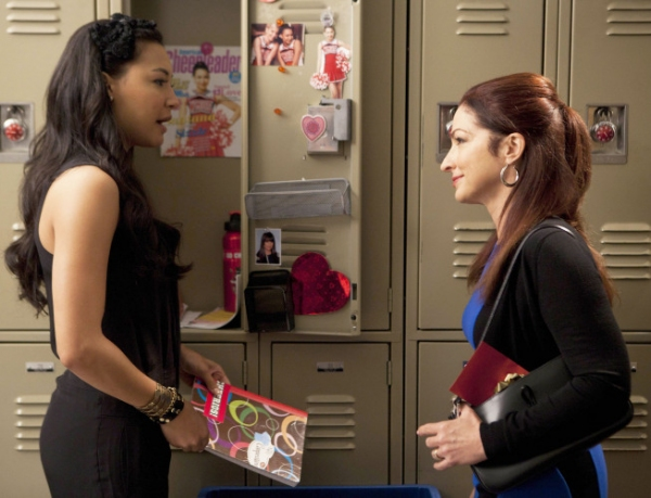 Naya Rivera, Gloria Estefan  at First Look at GLEE's Season 3 Finale!
