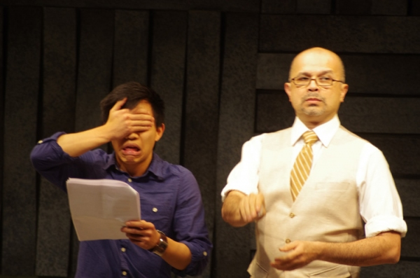 Tony Vo and Andrew Eisenman at Asian And...'s RIGHT HERE WRITE NOW at Cherry Lane Theater - Eugene Oh, Diane Phelan, Matt Park & More