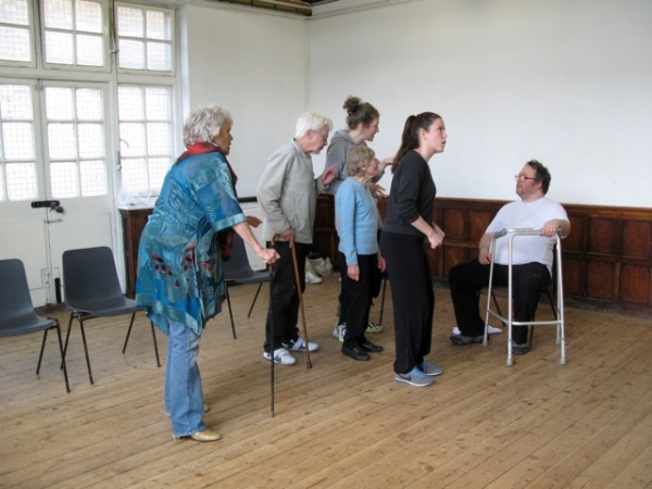Photo Flash: Rehearsals of The Pleasance Theatre's MOON RIVER Feat. Caroline Horton & Cast