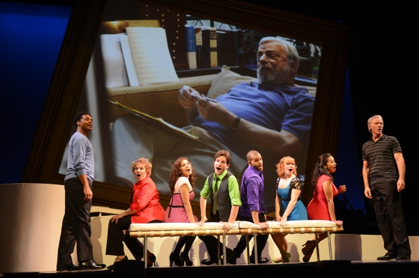 Destan Owens, Pamela Myers, Ciara Renee, James Penca, Justin Keyes, Emily Walton, Marie-France Arcilla and Brian Sutherland at First Look at SONDHEIM ON SONDHEIM at Great Lakes Theater