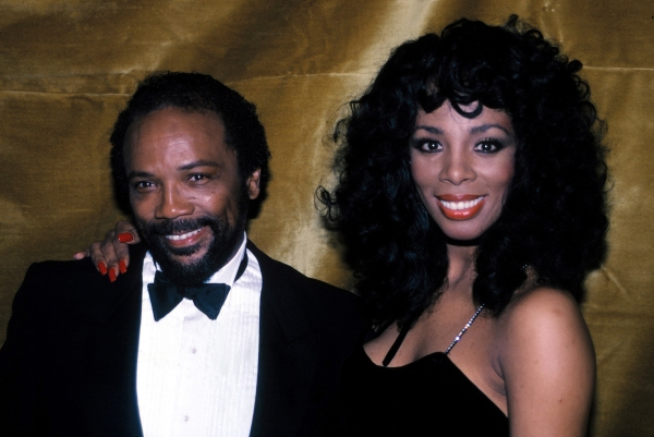 Quincy Jones & Donna Summer at the Savoy Theater in New York City. January 1983  Photo