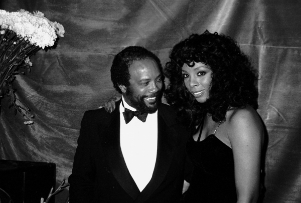 Quincy Jones & Donna Summer at the Savoy Theater in New York City. January 1983 at BroadwayWorld Remembers Donna Summer