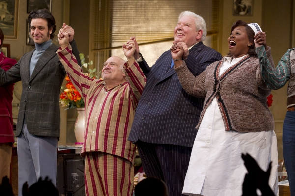 Adam Levy (Ben Silverman), Danny DeVito (Willie Clark), Richard Griffiths (Al Lewis) and Johnnie Fiori (Registered Nurse)