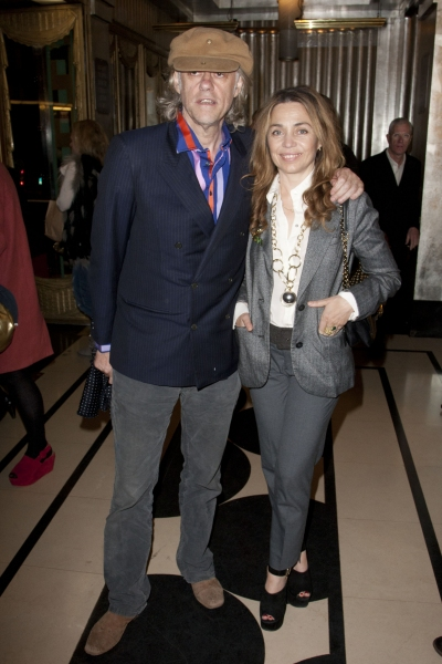 Bob Geldof and Jeanne Marineyndic