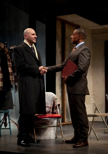 Jordan Lage and Giancarlo Esposito at Tonya Pinkins, Bob Dishy, et al. in Atlantic Theatre Company's STOREFRONT CHURCH