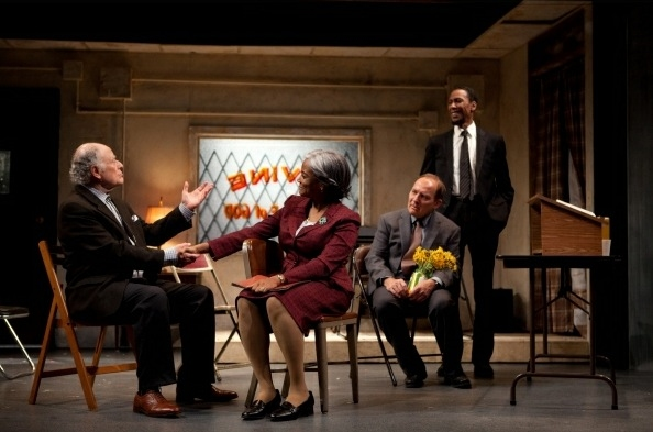 Bob Dishy, Tonya Pinkins, Zach Grenier and Ron Cephas Jones at Tonya Pinkins, Bob Dishy, et al. in Atlantic Theatre Company's STOREFRONT CHURCH