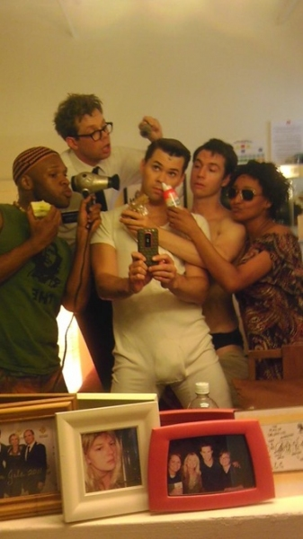 THE BOOK OF MORMON's Andrew Rannells ‏ with Michael James Scott, 