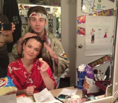 NEWSIES' Maddy Trumble at New Saturday Intermission Pics - HOW TO SUCCEED, NEWSIES, BOOK OF MORMON and More!