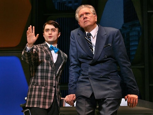 Daniel Radcliffe and John Larrouquette at Photo Flashback: HOW TO SUCCEED Closes Today; A Look Back at the Three Finches