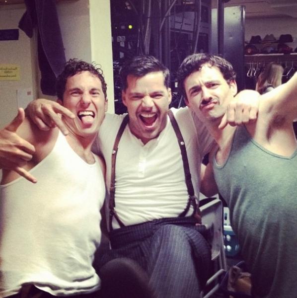 EVITA's Max von Essen, Ricky Martin and Aleks Pevec