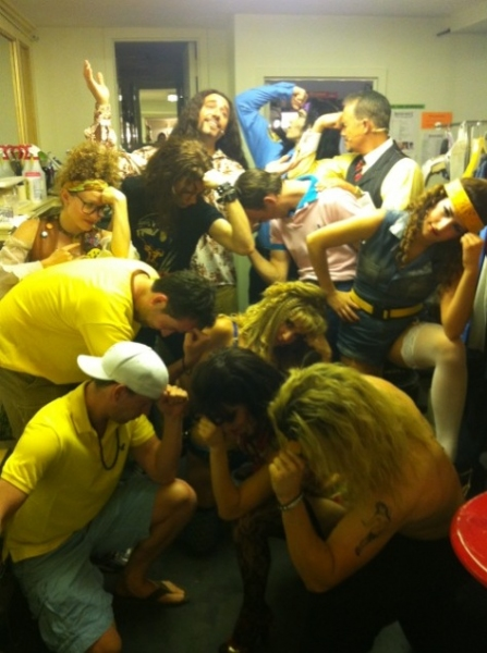 ROCK OF AGES' Neka Zang ‏and Company at Evening Saturday Intermission Pic Round-Up - Ricky Martin, NEWSIES and More!