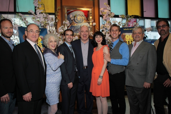 Sam Hoffman, Todd Susman, Marilyn Sokol, Marc Bruni, Lenny Wolpe, Audrey Lynn Weston, Bill Army, Daniel Okrent, Peter Gethers at OLD JEWS TELLING JOKES Opens Off-Broadway