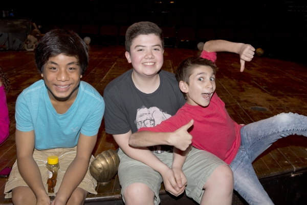 Jon Viktor Corpuz (Telly), Danny Ward (John the Baptist) and Alec Gallazzi (George)