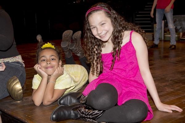 Grace Capeless (Celisse) and Rebecca Goldfarb (Lindsay) at The 'GODSPELL Cast of 2032' in Rehearsal!