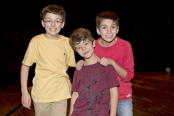Evan Smolin (Nick), Gaten Matarazzo (Jesus) and Alec Gallazzi (George)