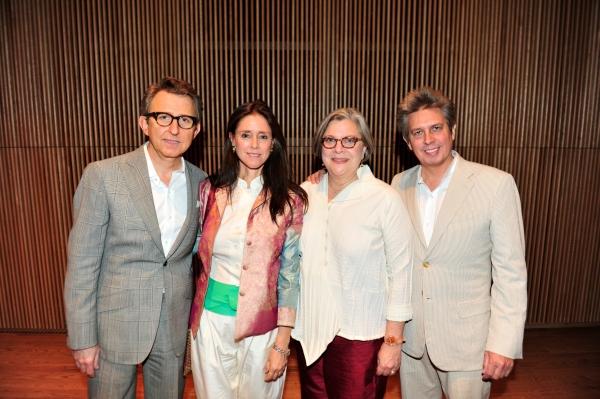 Thomas Schumacher, Julie Taymor, Music-Theatre Group Producing Director Diane Wondisford and Elliot Goldenthal
