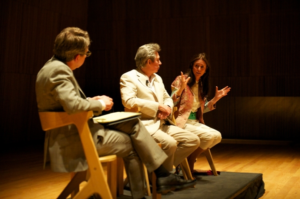 Thomas Schumacher, Elliot Goldenthal and Julie Taymor at Music-Theatre Group Chats With Julie Taymor and Elliot Goldenthal