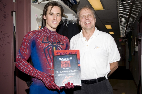 Photo Flash: SPIDER-MAN Celebrates Everyday Hero Kenneth Culver!