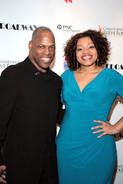 Adrian Bailey, Carmen Ruby Floyd at Christian Noll & More at the Christopher & Dana Reeve Foundation Born For Broadway Benefit!