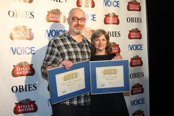 Ken Rus Schmoll and Erin Courtney at 2012 Obie Awards - Winners & More!