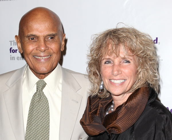 Harry Belafonte & wife Pamela  at The Stars Come Out to Honor Jerry Stiller, Harry Belafonte & More at The Actor's Fund Gala