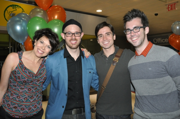 Jill Abramovitz, Ryan Scott Oliver, Matt Boyle and Matthew Murphy at Matt Doyle, Betsy Wolfe, et al. in York Theatre Company's NEO 8