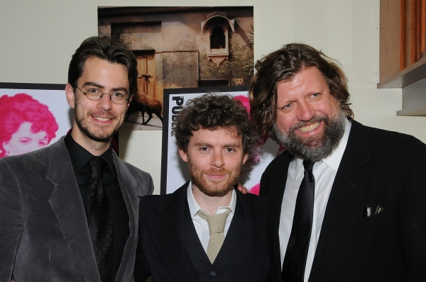February House book writer Seth Bockley, composer Gabriel Kahane and Public Theater Artistic Director Oskar Eustis