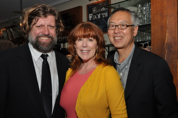 Public Theater Artistic Director Oskar Eustis, Mary Jo Shen and Ted Shen Photo