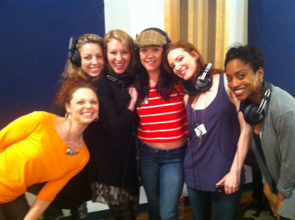 Photo Exclusive: Behind-the-Scenes of NICE WORK IF YOU CAN GET IT's Cast Recording Session!