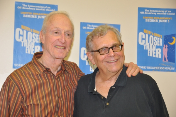 David Shire and Richard Maltby, Jr. at York Theatre's CLOSER THAN EVER Meets the Press